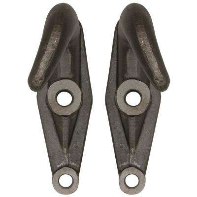 2-Hole Plain Finish Drop Forged Heavy-Duty Towing Hooks