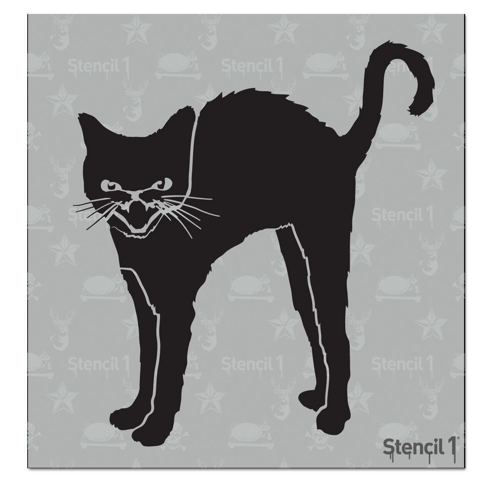 Stencil1 Black Cat Small Stencil