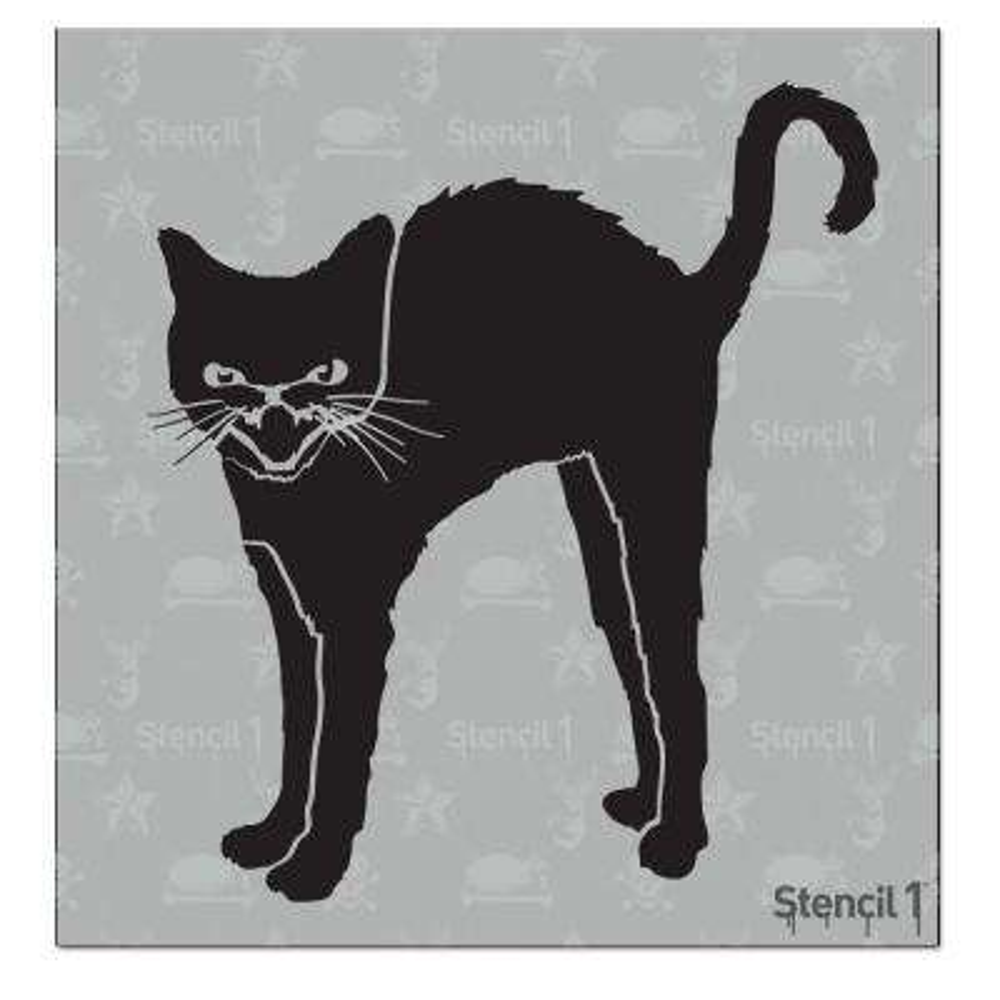 Black Cat Small Stencil