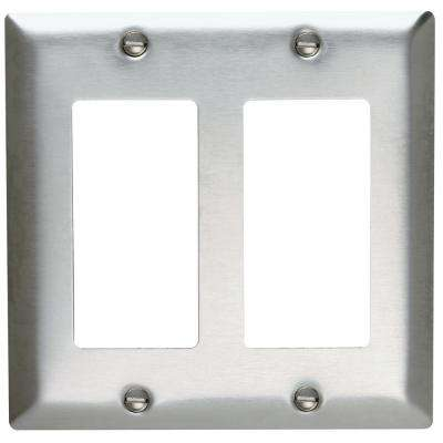 2-Gang Decora Wall Plate - Stainless Steel