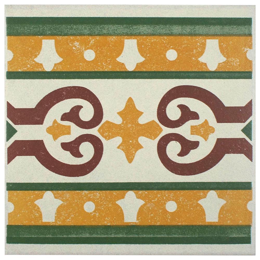 Merola Tile Cementi Quatro Trab Cenefa 7 in. x 7 in. Porcelain Floor and Wall Border Tile