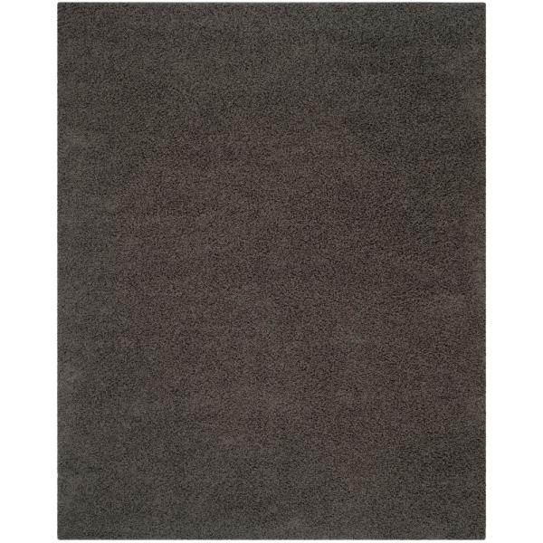 Athens Shag Dark Gray 9 ft. x 12 ft. Area Rug
