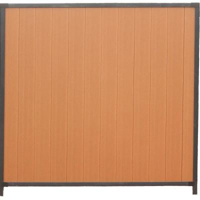 Mesa 6 ft. x 6 ft. Timber Brown Black Composite and Steel Privacy Fence Panel