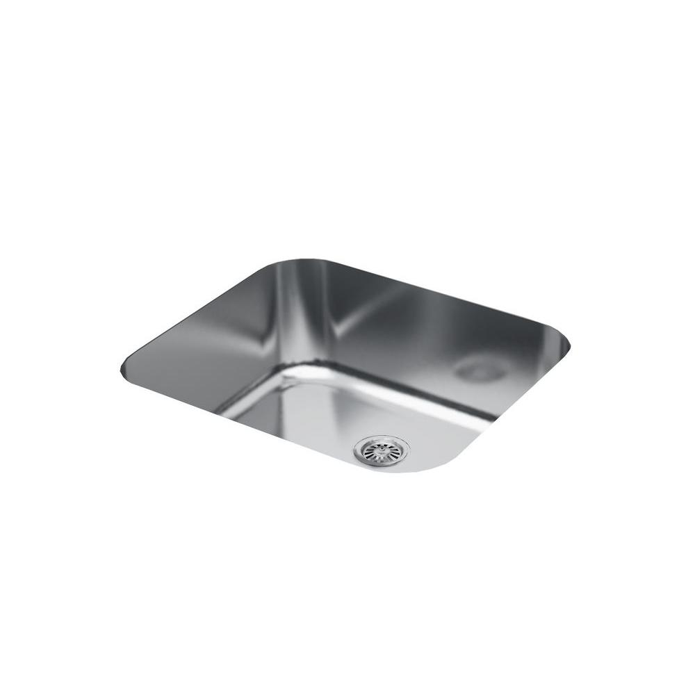 Filament design cantrio undermount stainless steel 20 in for Designer stainless steel sinks