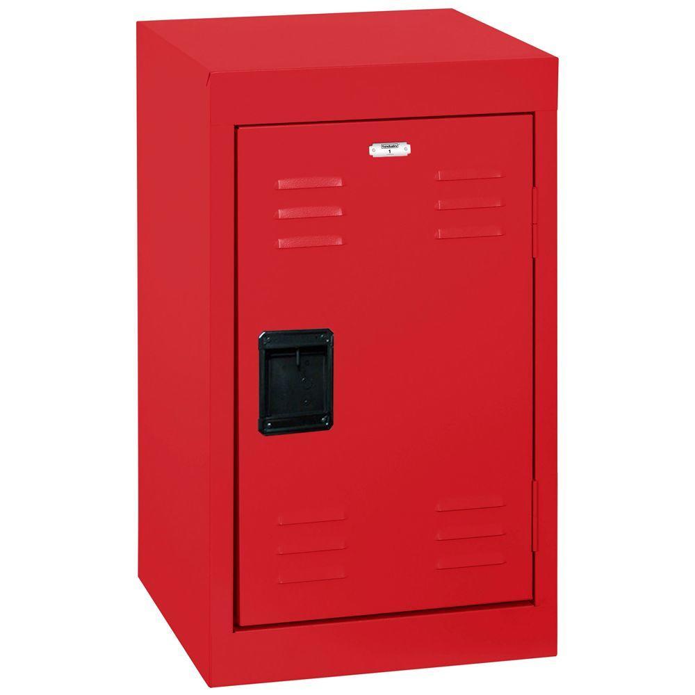 24 in. 1-Tier Steel Locker in Fire Engine Red