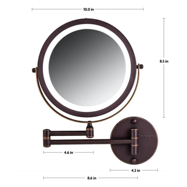 Ovente Wall Mount Led Lighted Makeup