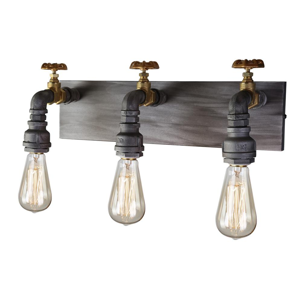 Brass Filament Design Sconces Bathroom Lighting The Home Depot - Sconce bathroom