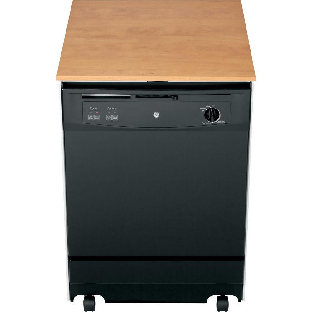 GE Convertible Portable Dishwasher in Black