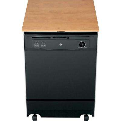 Convertible Portable Tall Tub Dishwasher in Black