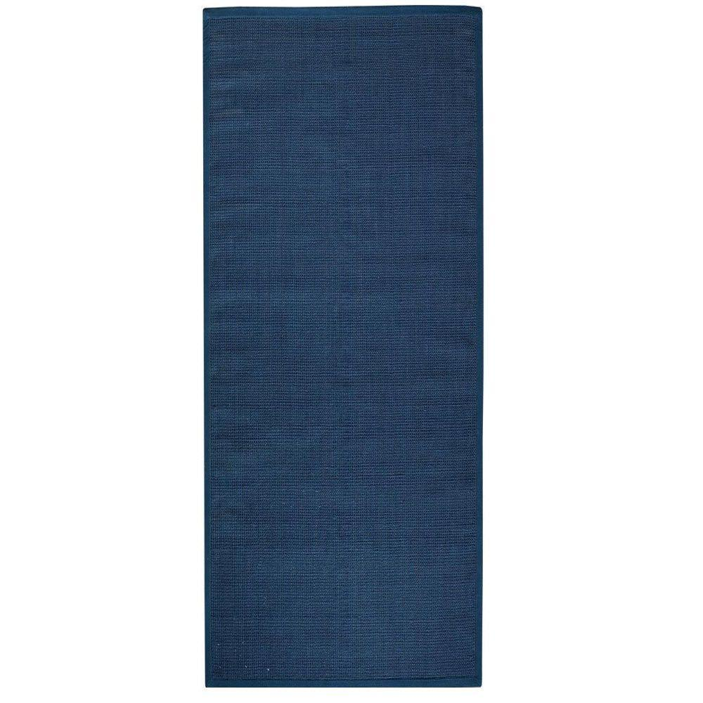 Home Decorators Collection Woolen Jute Indigo 3 ft. x 6 ft. Runner