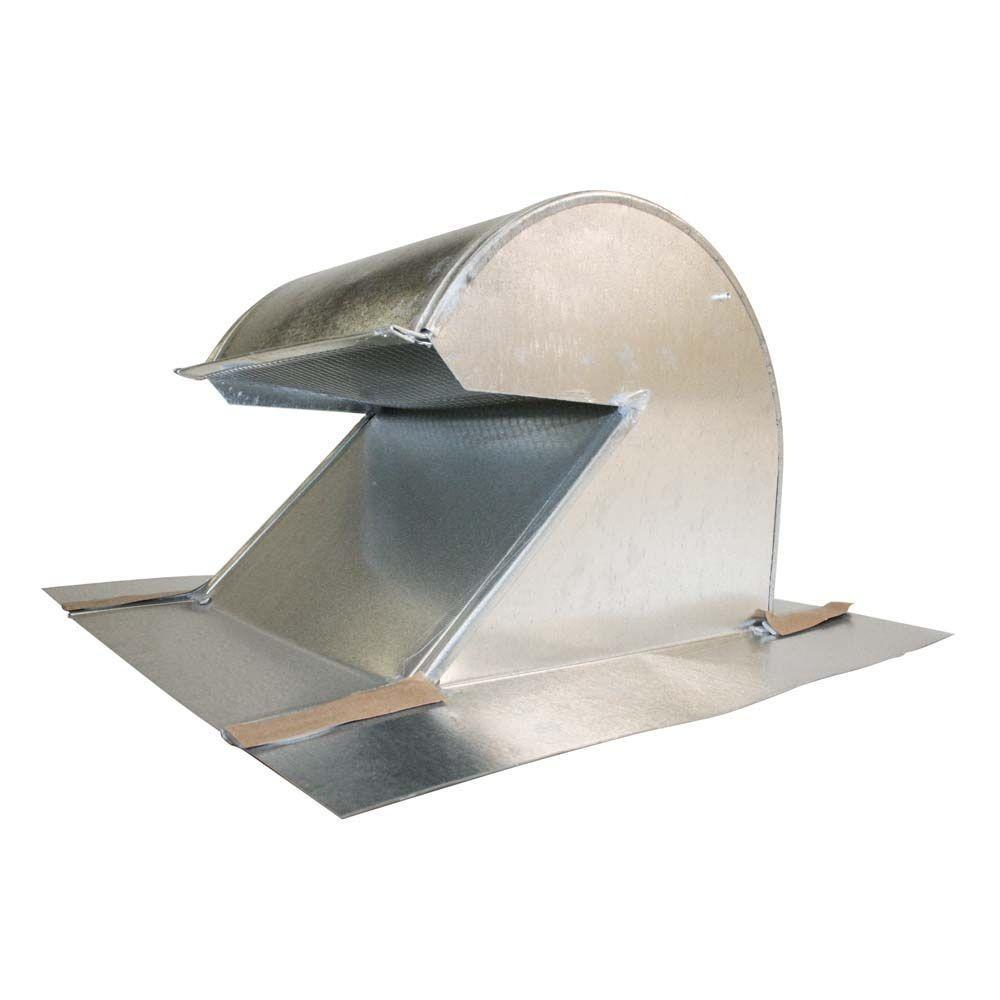 Gibraltar Building Products 10 In Galvanized Steel Gooseneck Vent 22999 The Home Depot