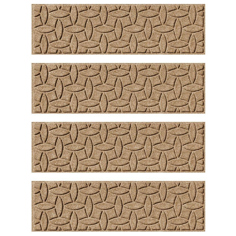 Khaki 8.5 in. x 30 in. Ellipse Stair Tread Cover (Set