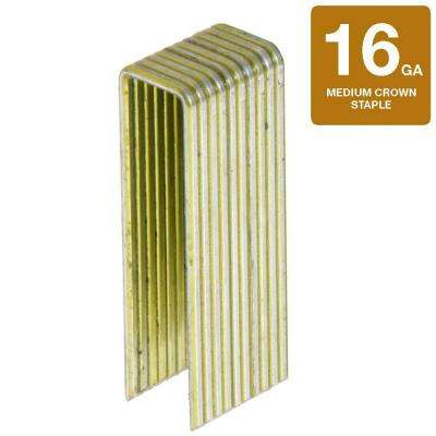 1-1/2 in. x 16-Gauge Electro Galvanized Medium Crown Staples (10,000-Piece per Box)