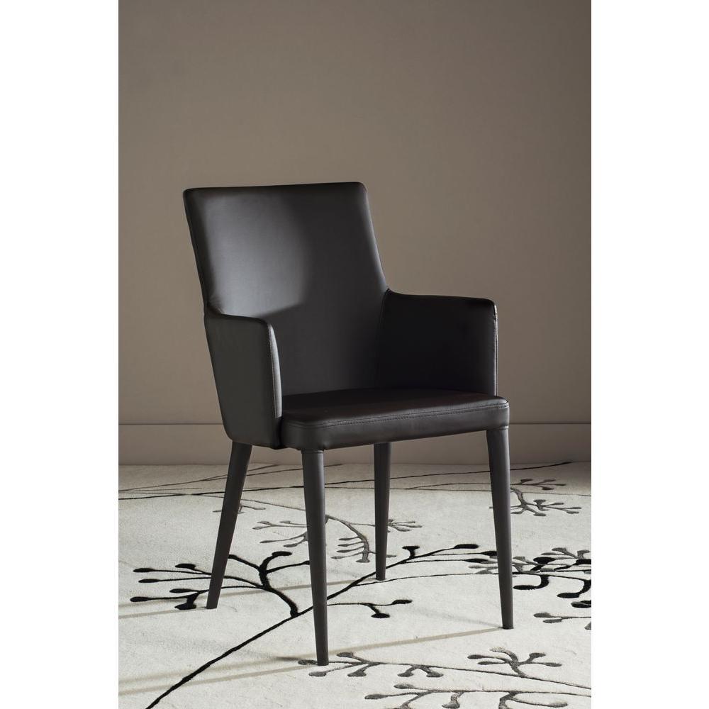 Safavieh Summerset Brown Bicast Leather Arm Chair