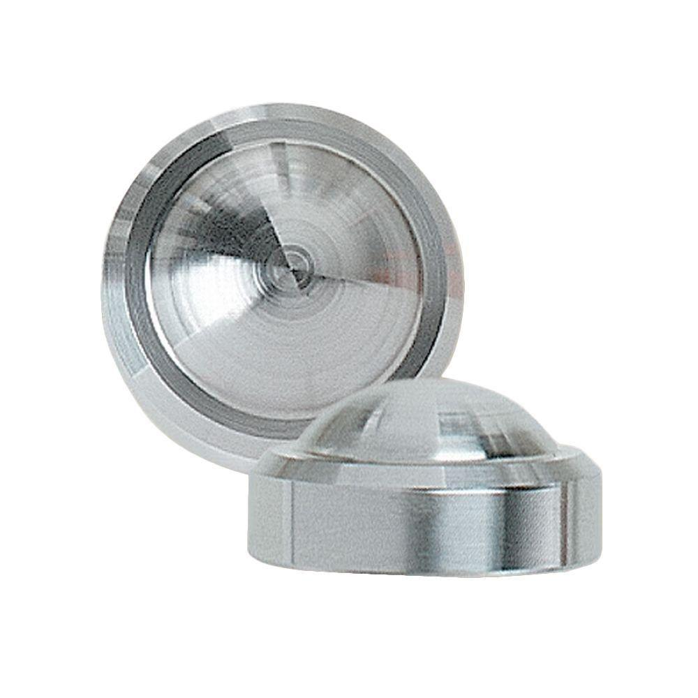 3/8 in. Stainless Steel Crown End Cap for Cable Railing System