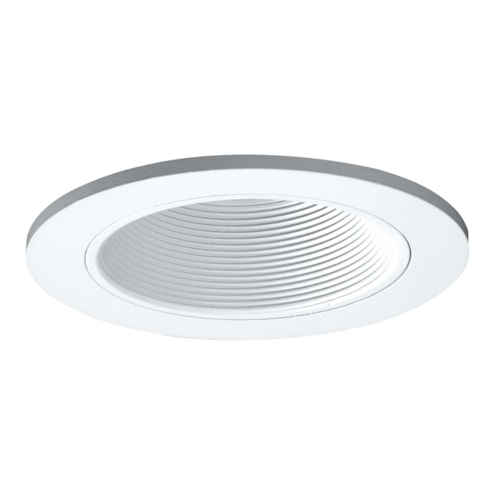3 in. White Recessed Ceiling Light Adjustable Baffle Trim