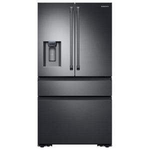 Click here to buy Samsung 22.6 cu. ft. 4-Door French Door Refrigerator with Polygon Handle in Black Stainless Steel, Counter Depth by Samsung.