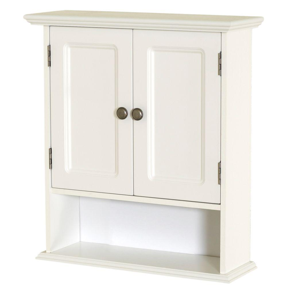 Zenna Home Collette 21 1 2 In W X 24 In H X 7 In D Bathroom Storage Wall Cabinet In White