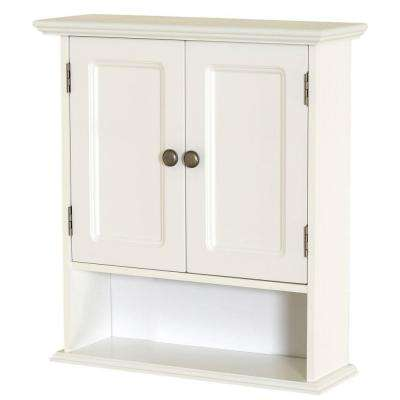 Collette 21-1/2 in. W x 24 in. H x 7 in. D Bathroom Storage Wall Cabinet in White