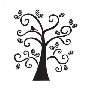 FolkArt Curly Tree Small Painting Stencils by FolkArt