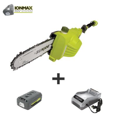 8 in. 40-Volt Electric Cordless Telescoping Pole Saw Kit with 4.0 Ah Battery + Charger