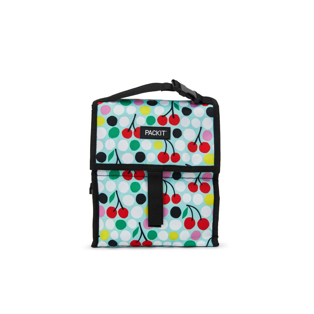Cherry Dots Freezable Lunch Bag