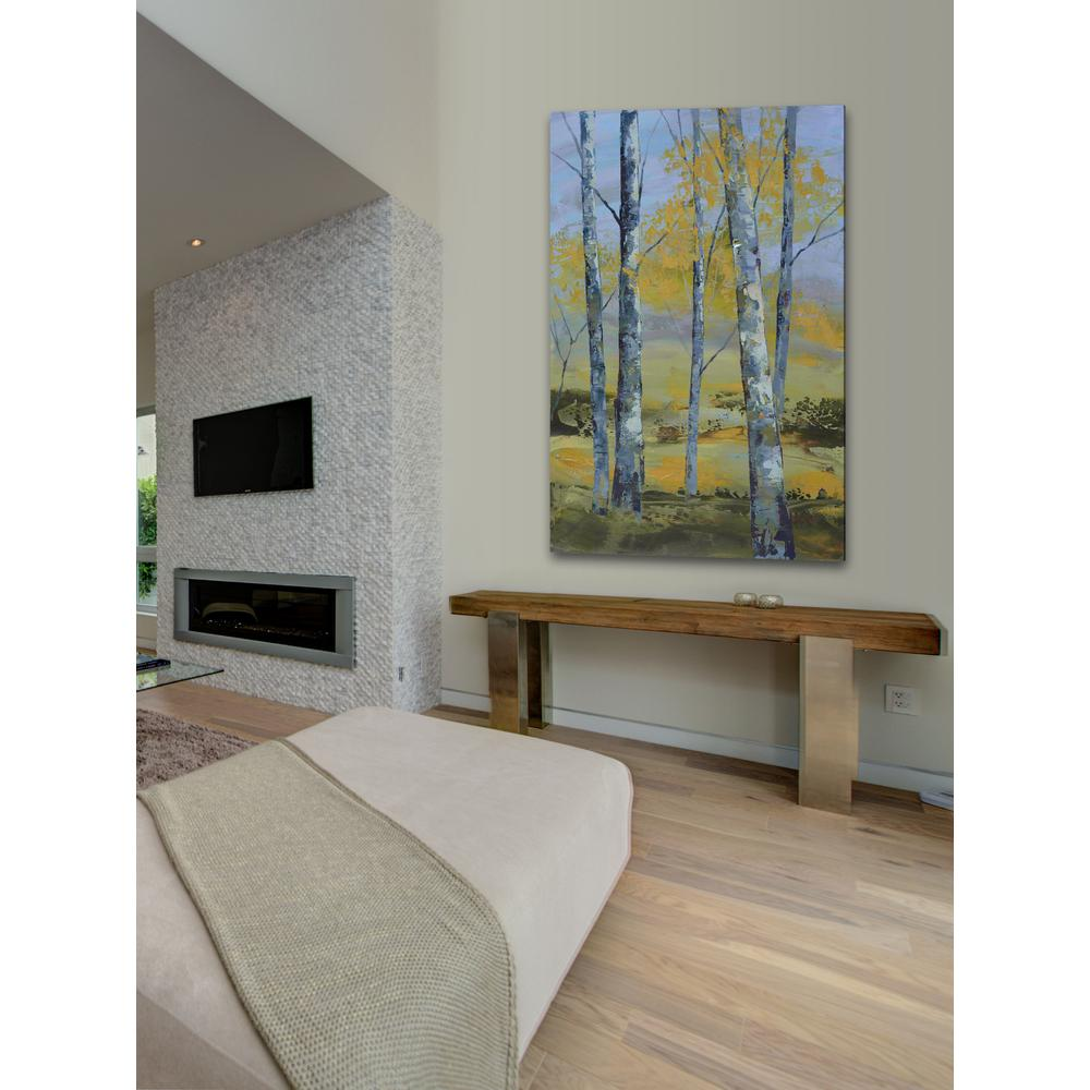 "60 in. H x 40 in. W ""Golden Stillness I"" by"
