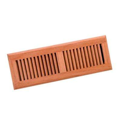 4 in. x 14 in. Wood Brazilian Cherry Unfinished Surface Mount Register