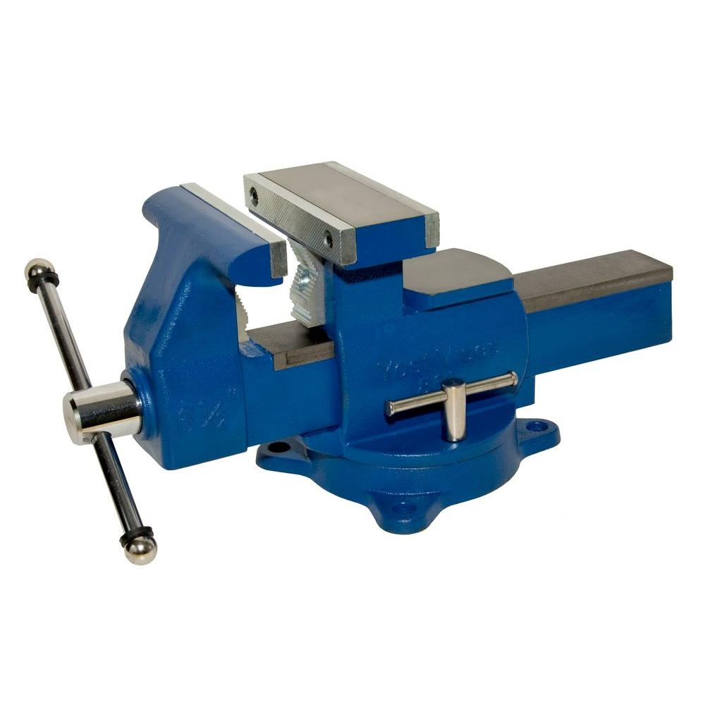 Yost 6 1 2 in multi purpose reversible mechanics vise 865 di the home depot 6 inch bench vise