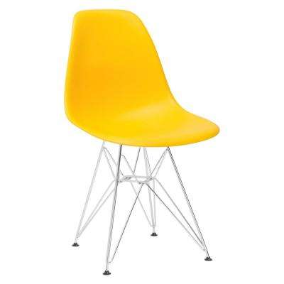 Padget Chrome and Yellow Side Chair