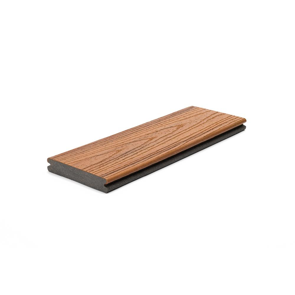 Trex Transcend 1 in. x 5.5 in. x 1 ft. Tiki Torch Composite Decking Board Sample