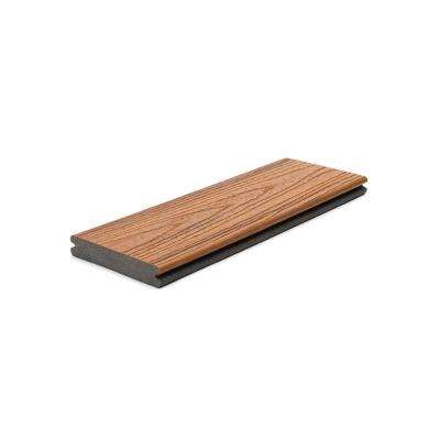 Transcend 1 in. x 5.5 in. x 1 ft. Tiki Torch Composite Decking Board Sample