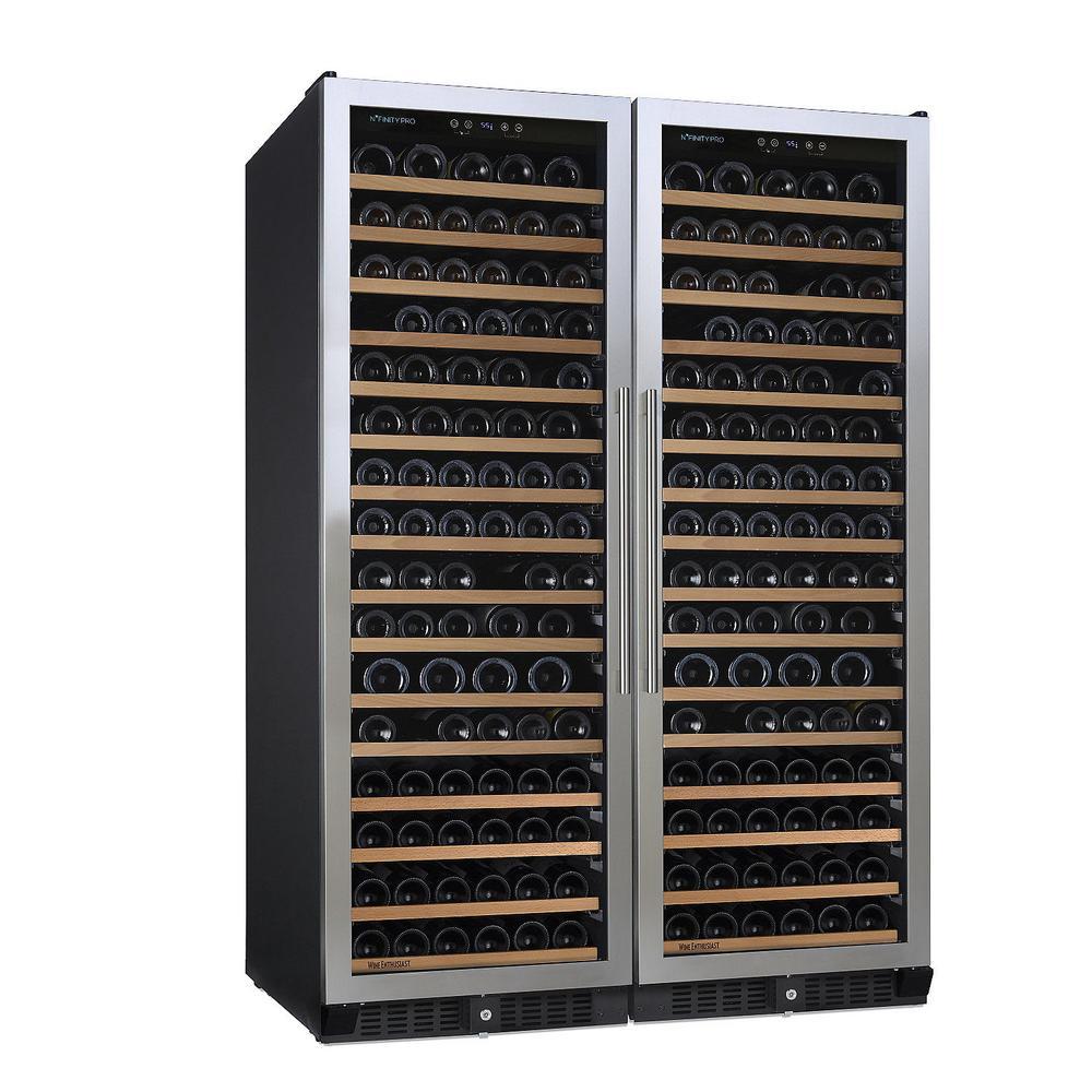 N'FINITY PRO Double L RED 332-Bottle 47.5 in. Freestanding Wine Cellar