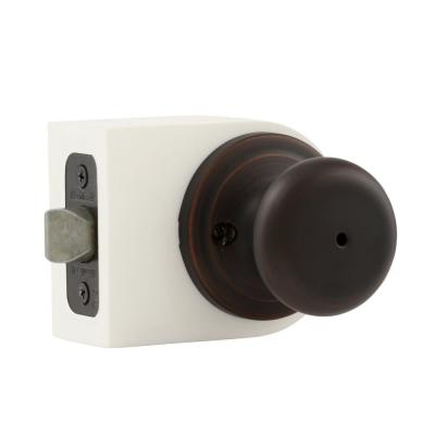 Juno Venetian Bronze Privacy Bed/Bath Door Knob