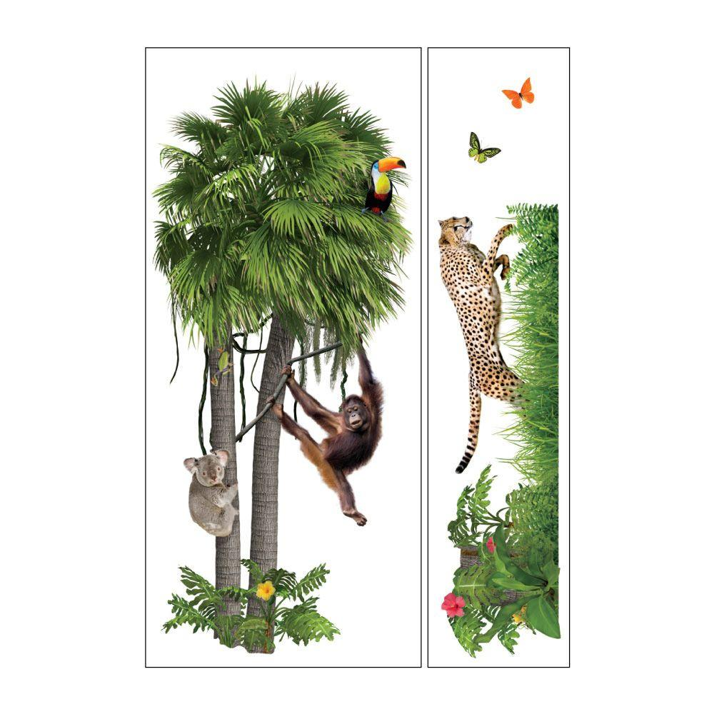 Sticky Pix Removable and Repositionable Ultimate Wall Sticker Mini Mural Appliques Zoo
