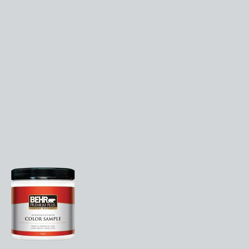 8 oz. #750E-2 Twilight Gray Flat Interior/Exterior Paint and Primer in