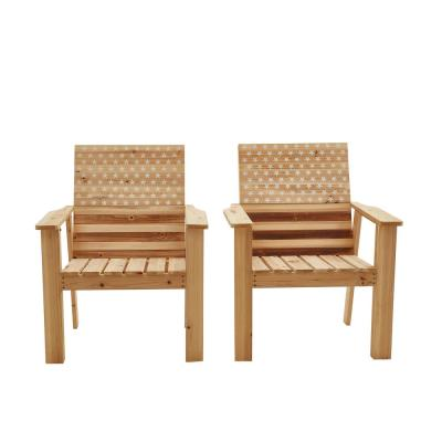 Wood Outdoor Lounge Chair (2-Pack)
