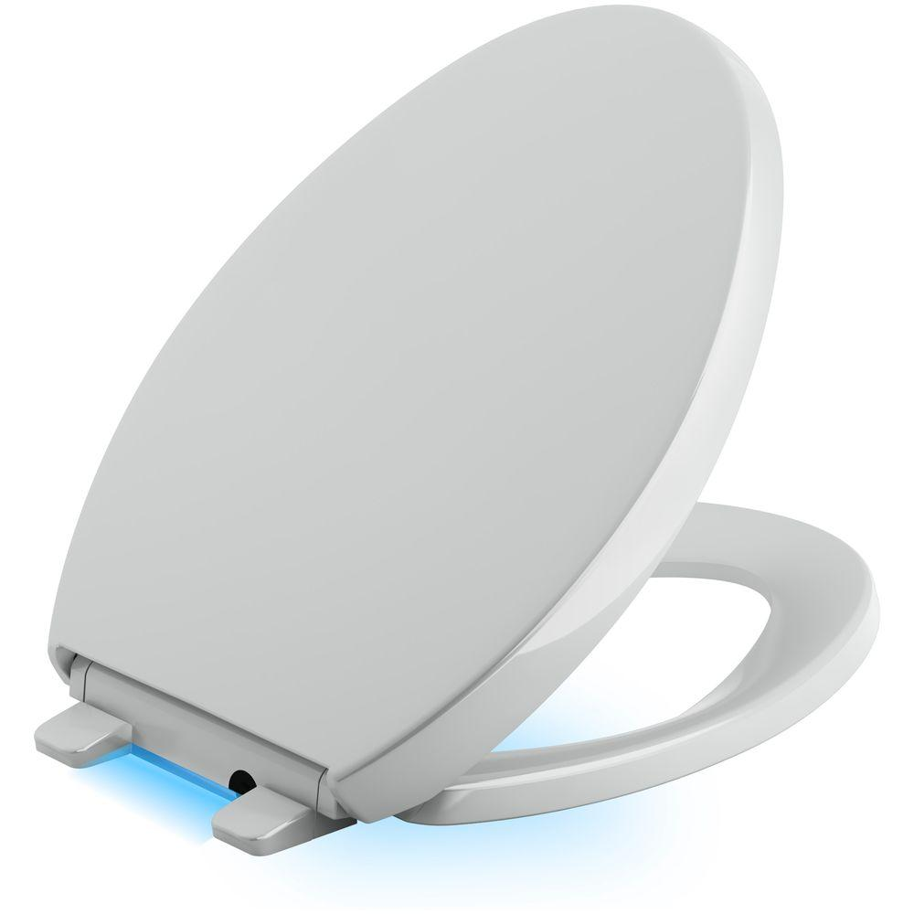 Superb Kohler Reveal Led Nightlight Elongated Closed Front Toilet Seat In Ice Grey Theyellowbook Wood Chair Design Ideas Theyellowbookinfo