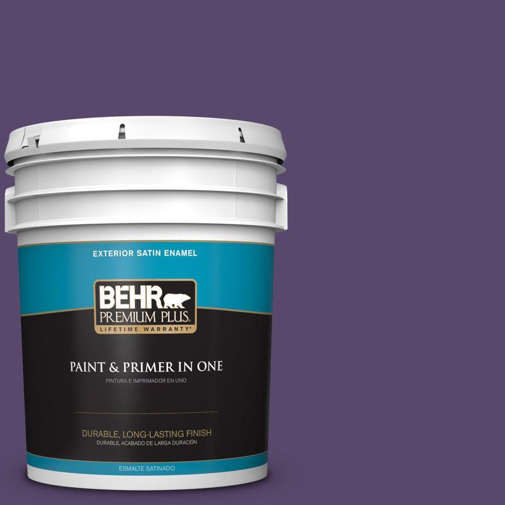 5-gal. #P570-7 Proper Purple Satin Enamel Exterior Paint