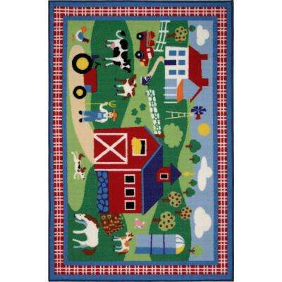 Olive Kids Country Farm Multi Colored 39 in. x 58 in. Area Rug