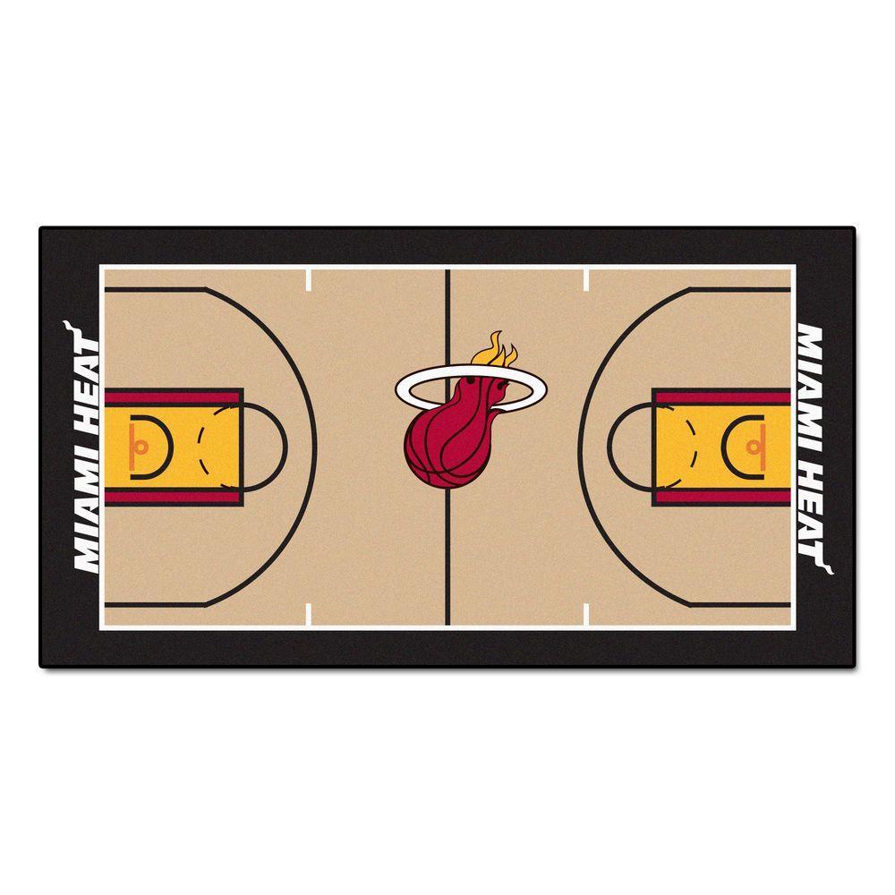 NBA Miami Heat 3 ft. x 5 ft. Large Court Runner Rug