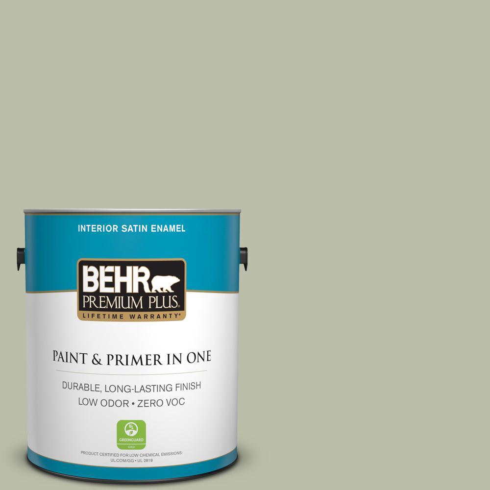 BEHR Premium Plus 1-gal. #S380-3 Urban Nature Satin Enamel Interior Paint