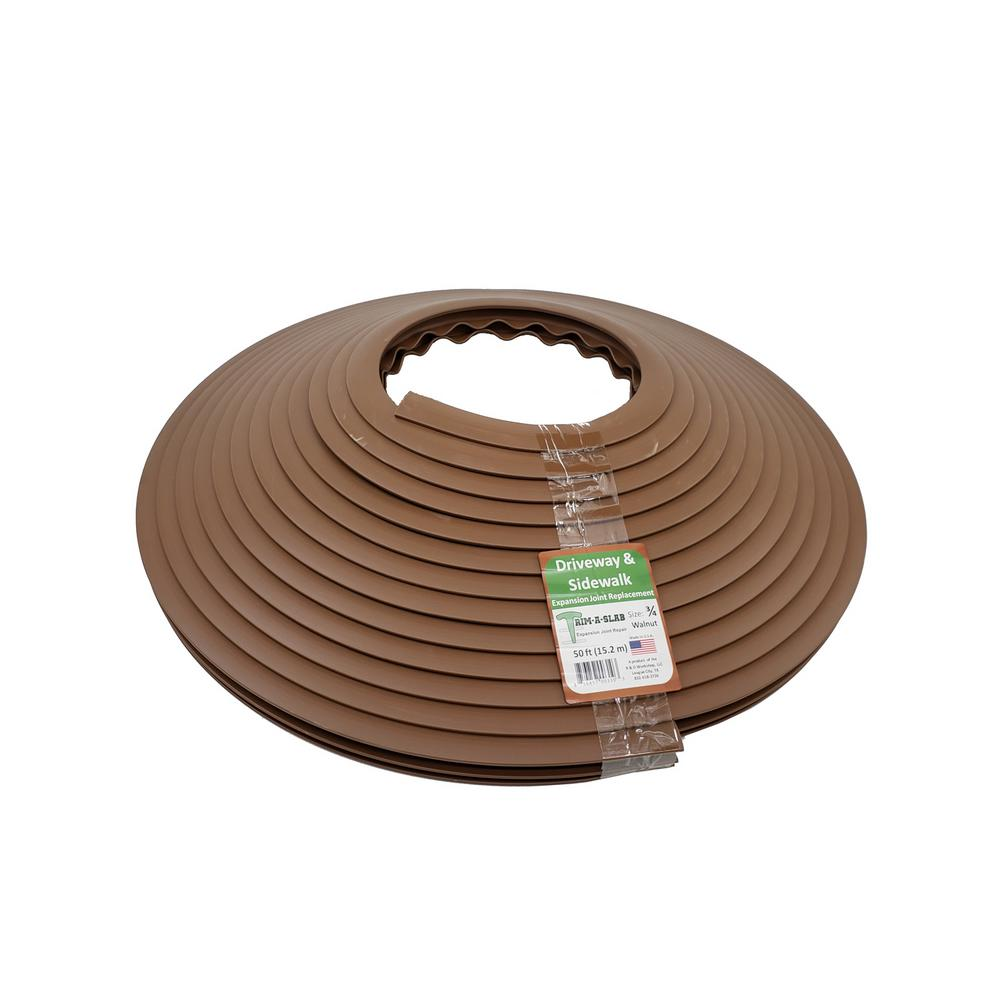 Trim A Slab 3 4 In X 50 Ft Concrete Expansion Joint Replacement Walnut
