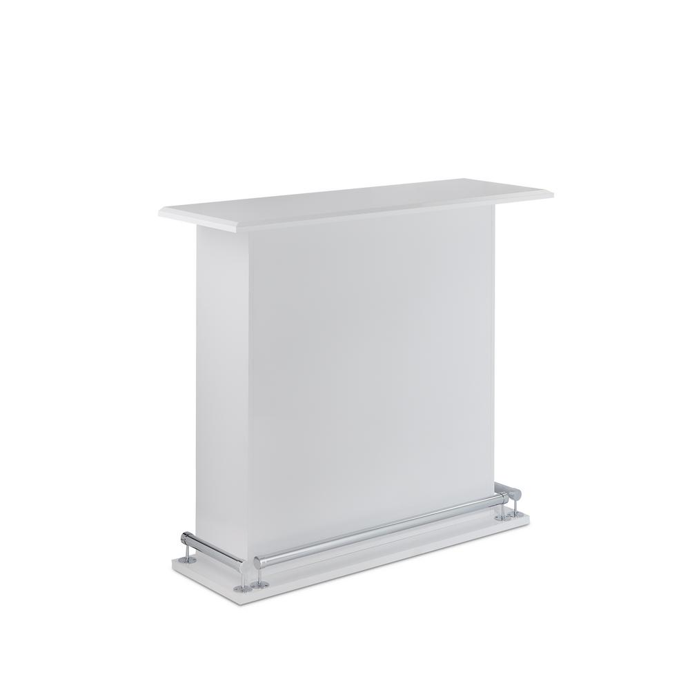 Acme Furniture Kite White Bar With Foot Railing