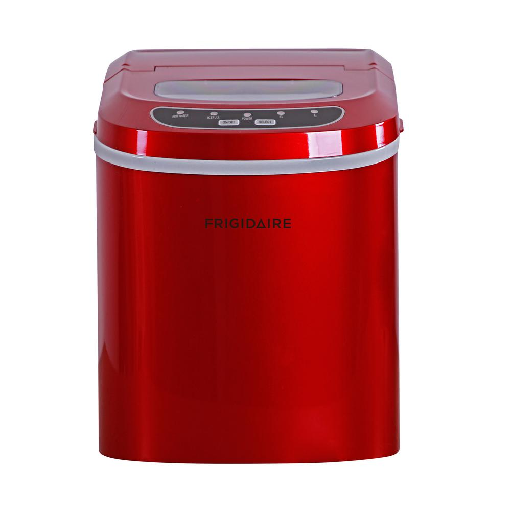 Appliances Frigidaire EFIC108-RED Compact Ice Maker Red Ice Makers