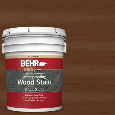 5 gal. #ST-110 Chestnut Semi-Transparent Waterproofing Exterior Wood Stain