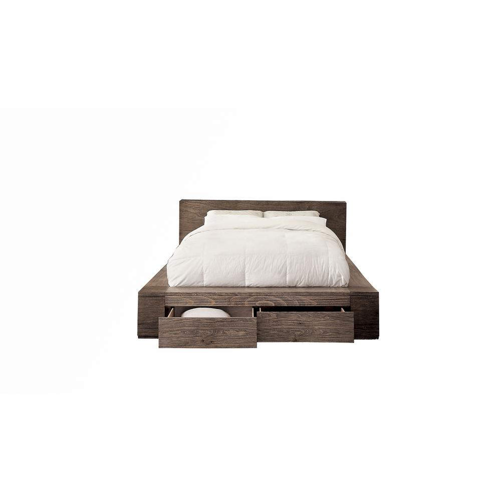 Williams Home Furnishing Bed Rustic Natural Tone Finish
