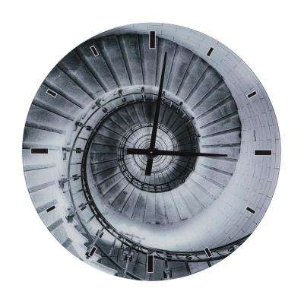Dark Twisty and Swirly Shade of Grey Glass Wall Clock