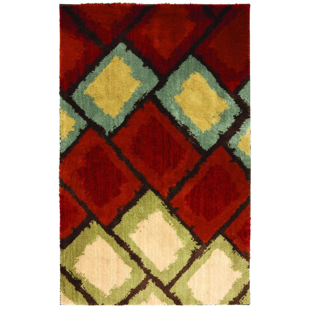 American Rug Craftsmen Abercorn Moroccan Red 3 ft. 4 in. x 5 ft. 6 in. Area Rug