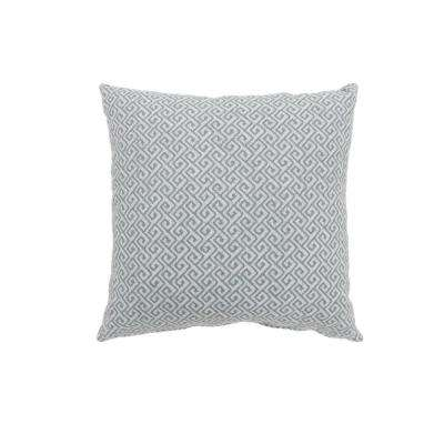 Ricki 18 in. Contemporary Throw Pillow in Blue (Pack of 2)